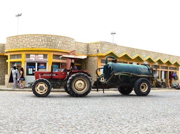 Sal Rei Traktor Marktplatz Boa Vista Kapverden