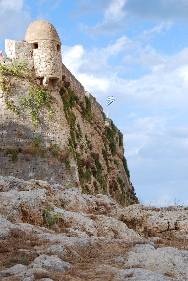 Mauern Fortezza von Rethymnon Kreta Griechenland