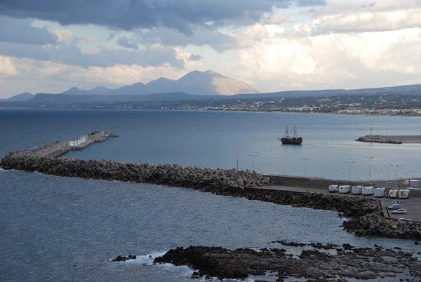 Ausblick von der Fortezza Rethymnon Kreta Griechenland