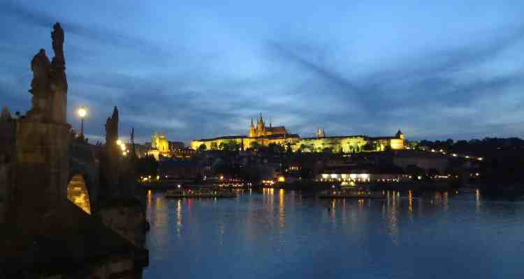 00 Citytrip Prag Prager Burg Nacht Tschechien