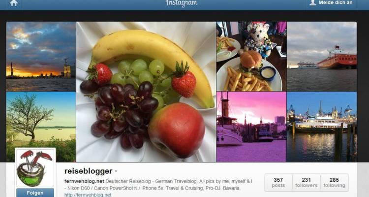 Instagram Reiseblogger