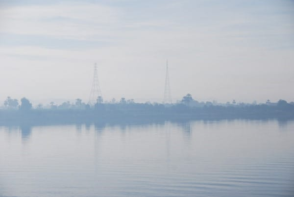 Sonnenaufgang Edfu Ägypten Nil Nilkreuzfahrt