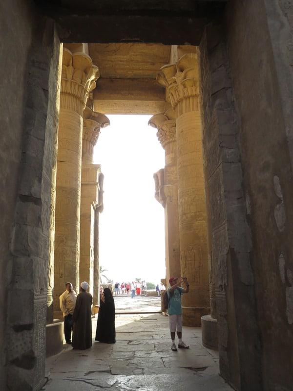 Doppeltempel von Kom Ombo Säulensaal Ägypten