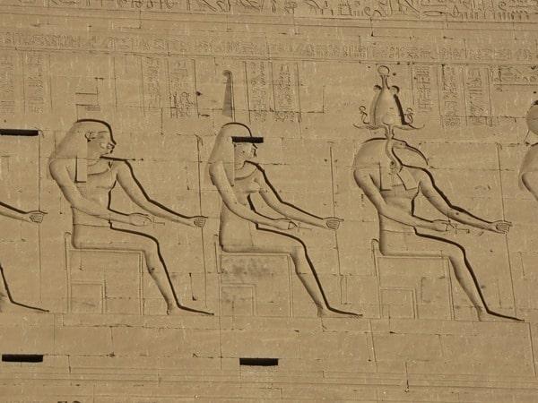 Horus Tempel von Edfu Maat Relief Ägypten Nil Nilkreuzfahrt