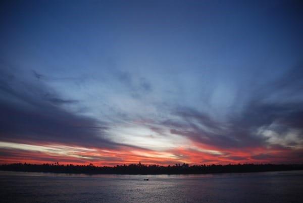 Sonnenuntergang Nil Nilkreuzfahrt Ägypten
