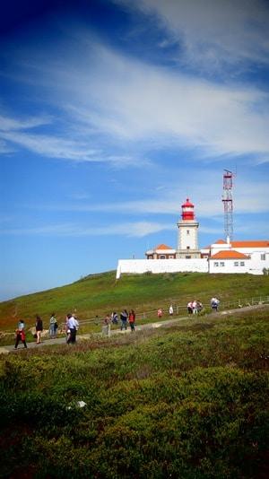 Cabo da Roca westlichster Punkt Europas Leuchtturm Faro Portugal