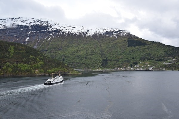 Geirangerfjord Norwegen Fjord Fähre Fjord1 Hellesylt Kreuzfahrt