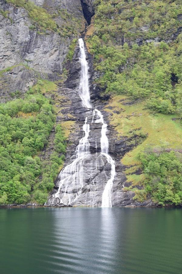 Wasserfall Geirangerfjord Landschaft Fjord Norwegen