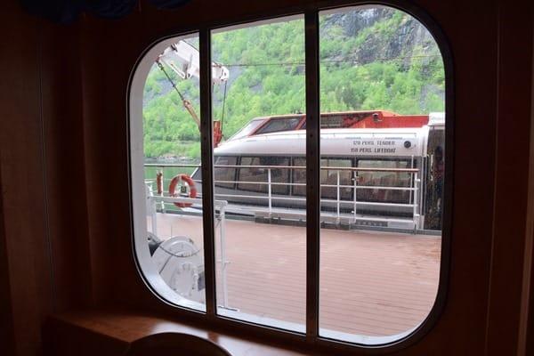 Geirangerfjord Nordland-Kreuzfahrt MSC Sinfonia Tenderboot Norwegen