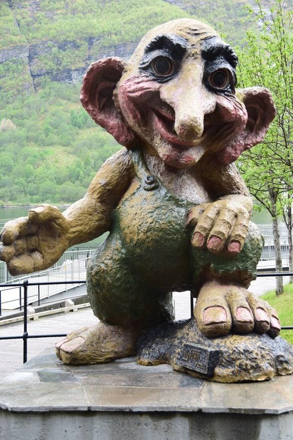 Geiranger Geirangerfjord Norwegen Troll Nordland-Kreuzfahrt