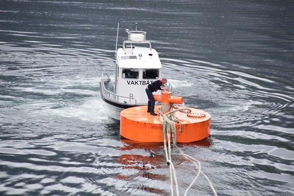 Geirangerfjord Norwegen Geiranger Cruise Port MSC Sinfonia ablegen