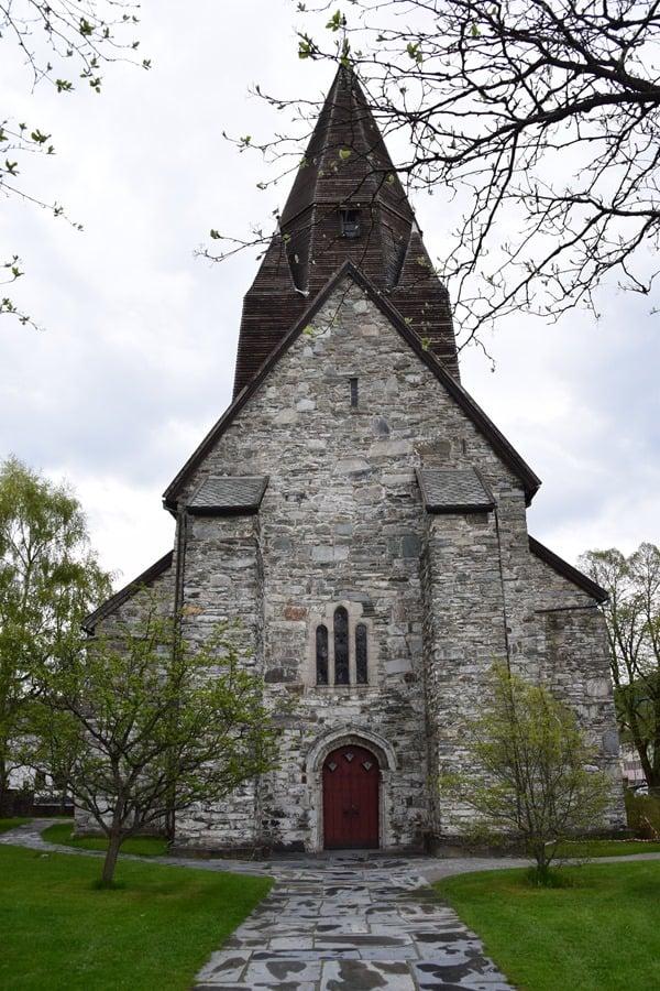 Kirche Voss Vossevangen Norwegen