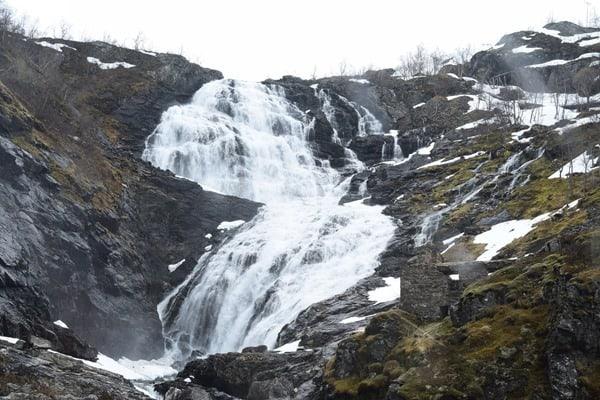 Flambahn Norwegen Kjosfossen Wasserfall Flamsbana