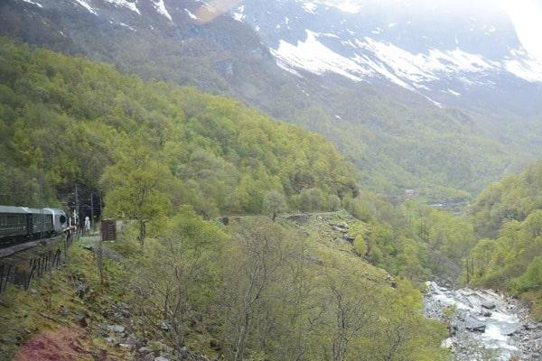 Flambahn Norwegen Unterwegs mit der Flamsbana Zugfahrt