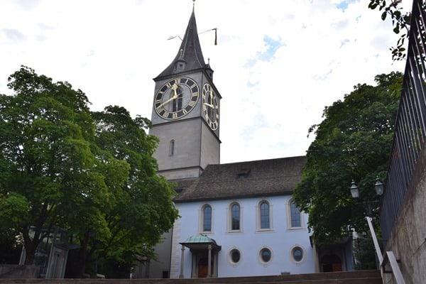 Zürich Sehenswürdigkeiten Schweiz Kirche St. Peter