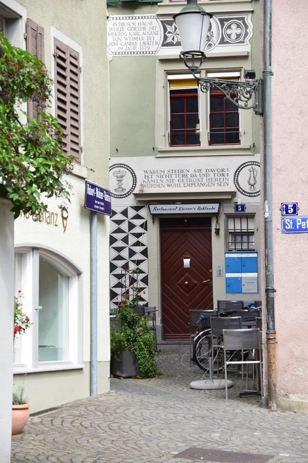 Zürich Sehenswürdigkeiten Schweiz Restaurant Kaisers Reblaube