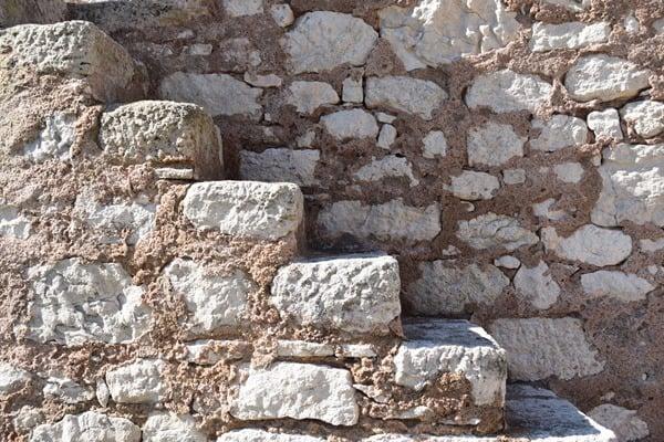 Bonifacio Korsika Mauer Treppe Bastion de l´Etendard Festung Frankreich