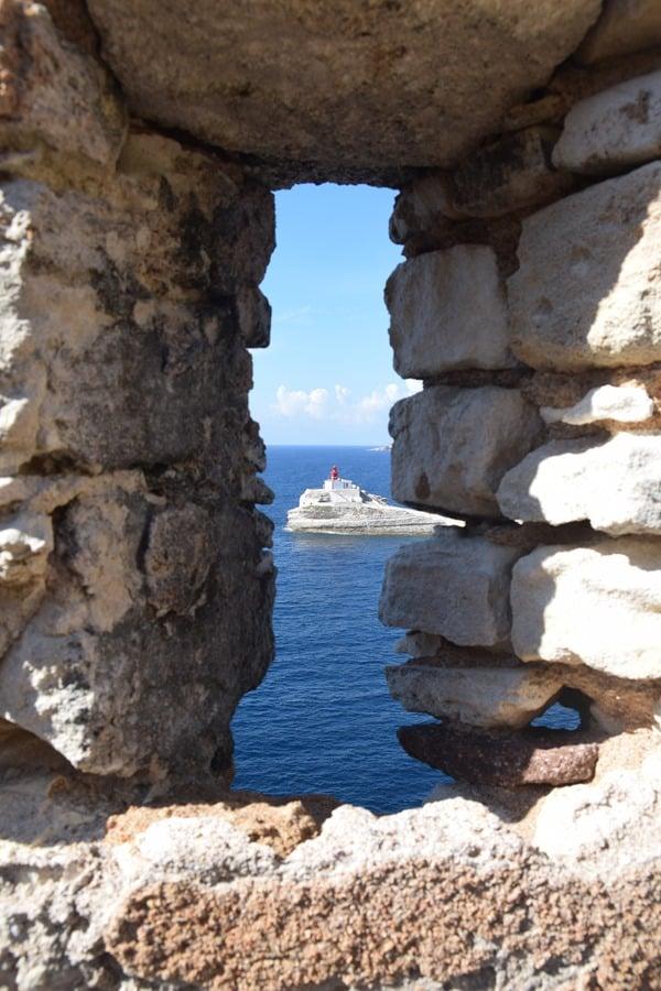Bonifacio Korsika Blick aus der Bastion de l´Etendard Festung Frankreich