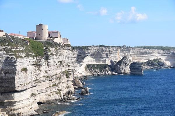 Bonifacio Korsika weiße Klippen Kalksteinkliff Frankreich