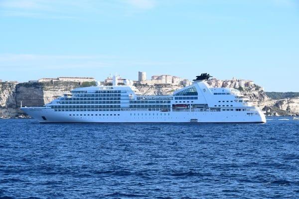 Bonifacio Korsika Kreuzfahrt Kreuzfahrtschiff Seabourn Sojourn