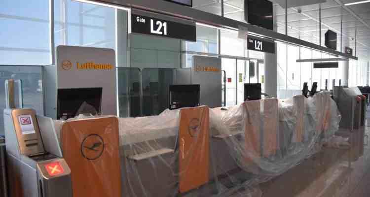 00 Probebetrieb Satellit Terminal 2 Flughafen Muenchen Lufthansa