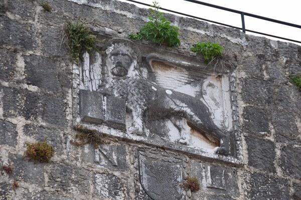 Porec Kroatien Markuslöwe Turm Altstadt Istrien