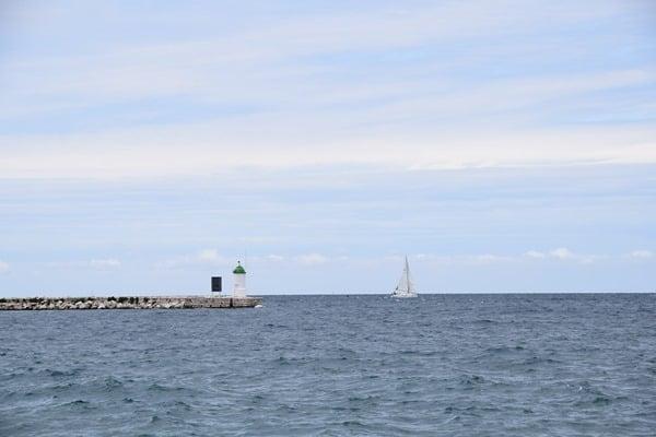Porec Kroatien Blick aufs Meer vor Istrien