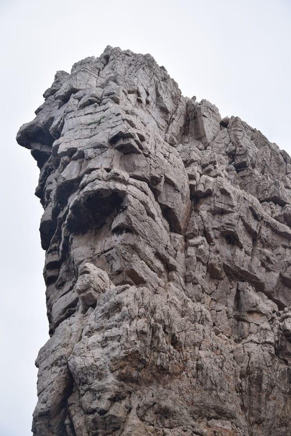 Felsgesicht Klippe Capo Caccia Alghero Sardinien Italien