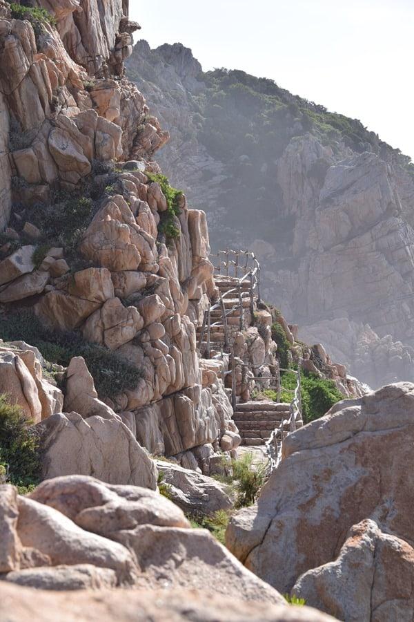 Wanderweg Strand Li Cossi Costa Paradiso Sardinien Italien