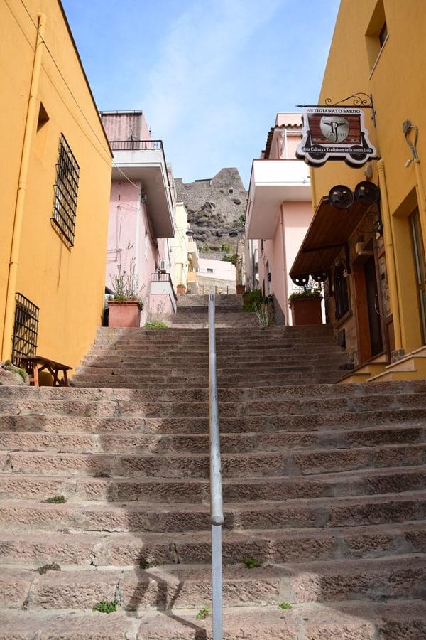 Castelsardo Sardinien Treppen Italien