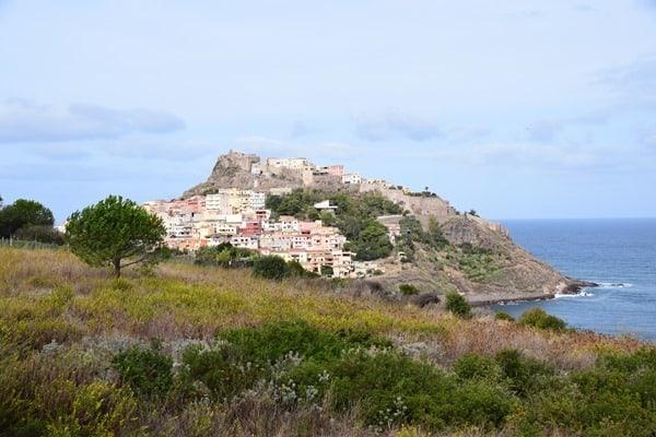 Castelsardo Sardinien Italien Meer Wolken