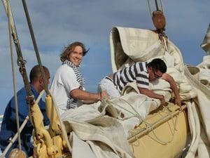 Seetag Kreuzfahrt Kreuzfahrtschiff Royal Clipper Segel vertauen Takelage Matrosen Passagier Grosssegler Windjammer