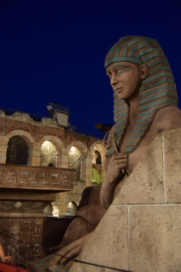 Kulissen Oper Aida Piazza Bra Arena di Verona Italien