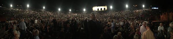 Panorama Innenraum Oper Arena di Verona Italien