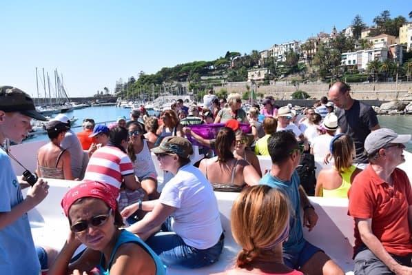 Whale Watching Whale Watch Imperia Schiff Corsara Oberdeck Ligurien Italien