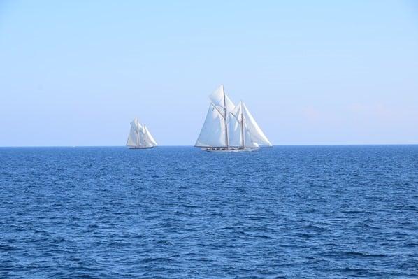 Segelregatta Schoner Segelschiff San Remo Ligurien Italien