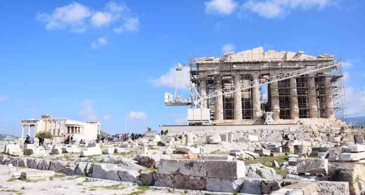 0 Parthenon Akropolis Athen Griechenland Kreuzfahrt Mittelmeer Vision of the Seas
