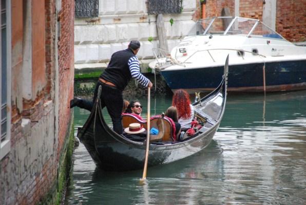 Gondoliere in Venedig Italien