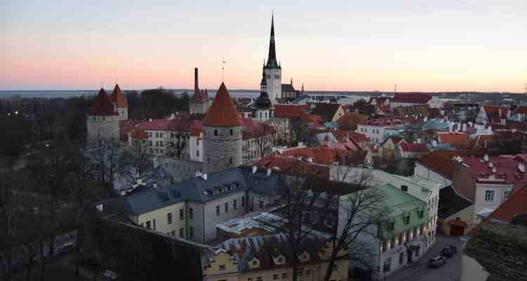 00 Sonnenanaufgang Altstadt Tallinn Estland Ostsee