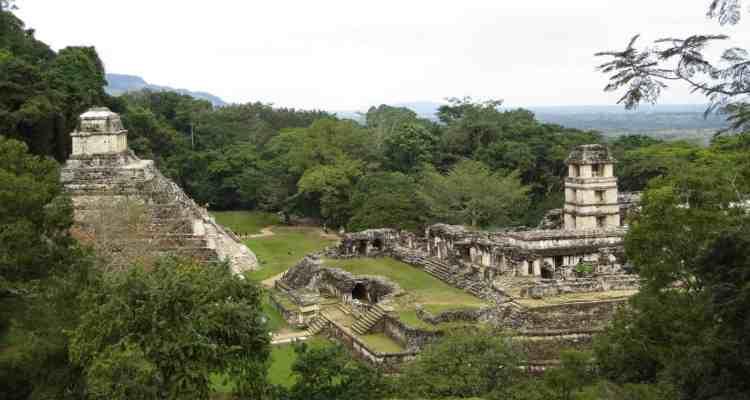 Palenque Mexiko Sehenswürdigkeiten Maya-Stätte Tempel Ruine Urwald
