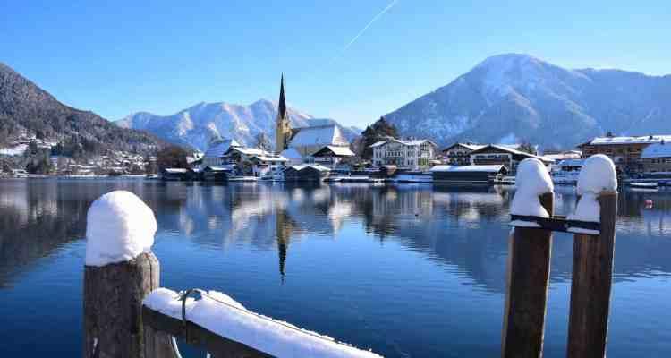 0 Winter Rottach Egern Tegernsee Bayern Deutschland