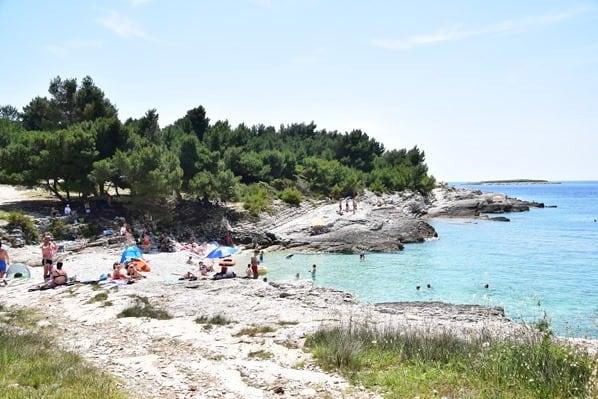 Strand Naturpark Kap Kamenjak Wandern Istrien Kroatien