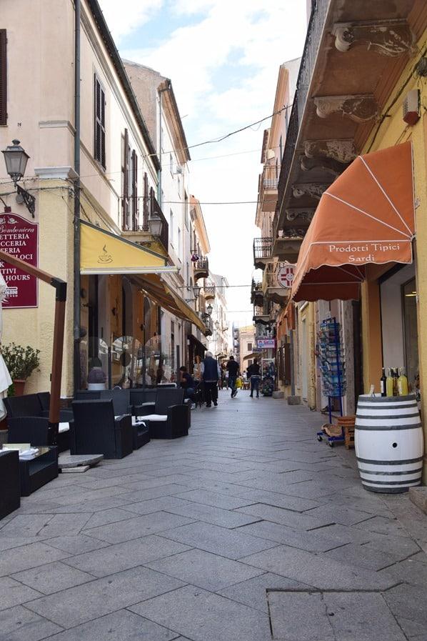 La Maddalena Sardinien Gassen Stadt Italien Mittelmeer