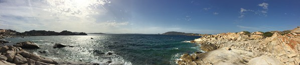 La Maddalena Sardinien Panorama Meer und Landschaft Italien Mittelmeer