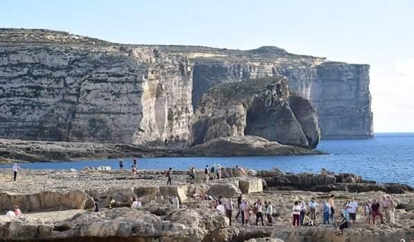 Fungus Rock Gozo Malta beim Azure Window