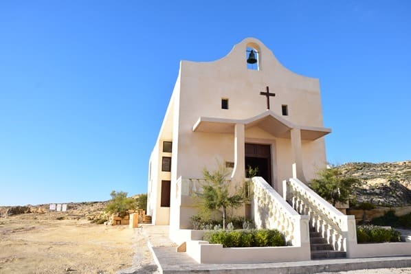Azure Window Gozo Malta Kirche Kappella Sant' Anna