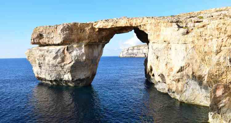 Goodbye Azure Window Gozo Malta Mittelmeer