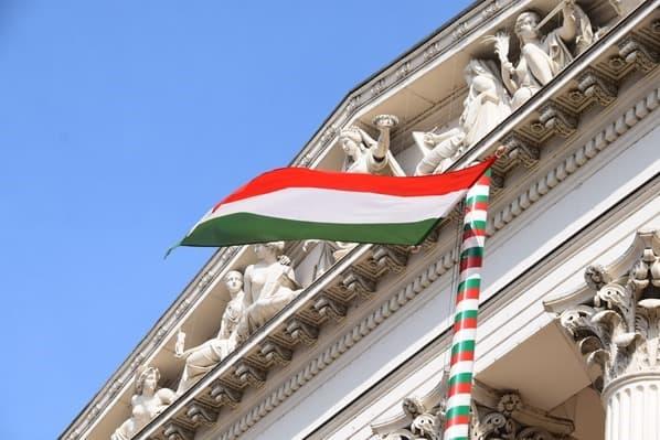 Donaukreuzfahrt Flusskreuzfahrt Donau Ungarisches Nationalmuseum Budapest Ungarn ungarische Flagge