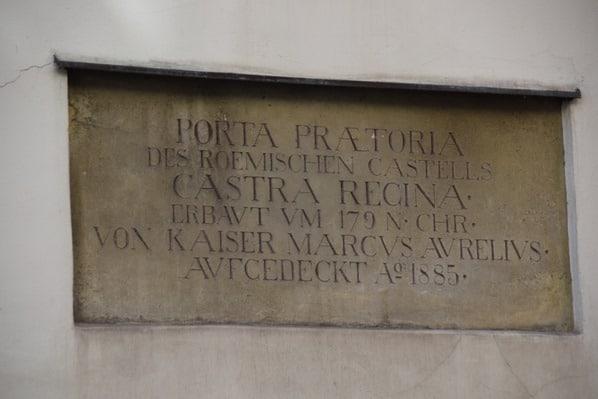 Altstadt Regensburg Sehenswürdigkeiten Porta Praetoria Altes Römertor