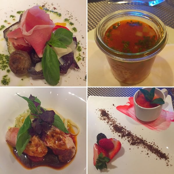 a-rosa flusskreuzfahrt Donau Vier Gang Gourmet Menü Cucina Italiana